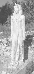 Sacred image of Isis from Brexiza, Greece, near Marathon