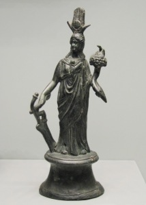 Isis Fortuna with Her rudder and cornucopia