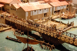 A model of Londinium in the 1st century CE, from the London Museum
