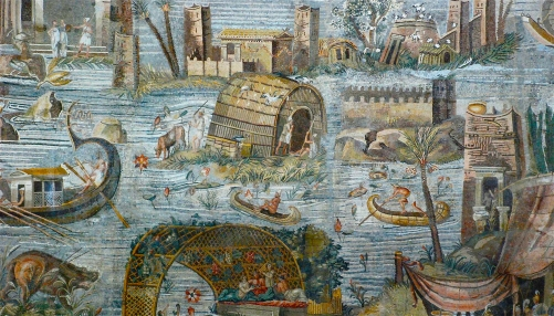 A fanciful Italian mosaic, from the Hellenistic period, showing Egypt during Inundation