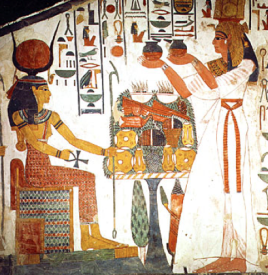 Nefertari makes offering to Isis