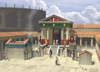 A reconstruction of the Temple of Isis, Pompeii