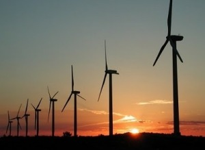 Today, the wind provides power in Egypt; this is the Zafarana wind farm