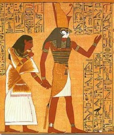 Horus lead Ani before His father Osiris for judgment