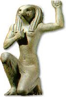 Horus makes the henu gesture of praise