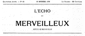 The masthead of L'Echo du Merveilleux