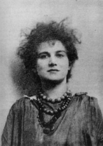 Moina Mathers; if the 1895 date on this photo is correct, she would have been about 30
