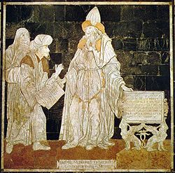 Hermes Trismegistos as a human sage, from the Siena Cathedral