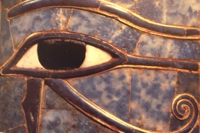 The Eye of Horus with its deep, black pupil