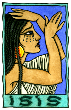 Talia Took's new image of Isis mourning. You can get prints of this work here.
