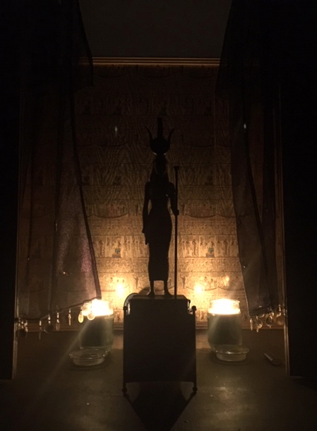 Goddess Isis in Her temple